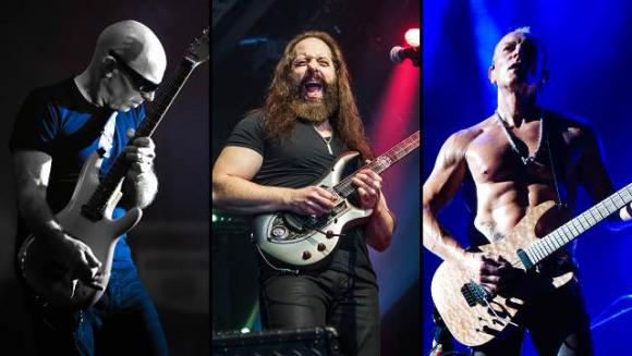Joe Satriani, John Petrucci & Phil Collen at Eccles Theater