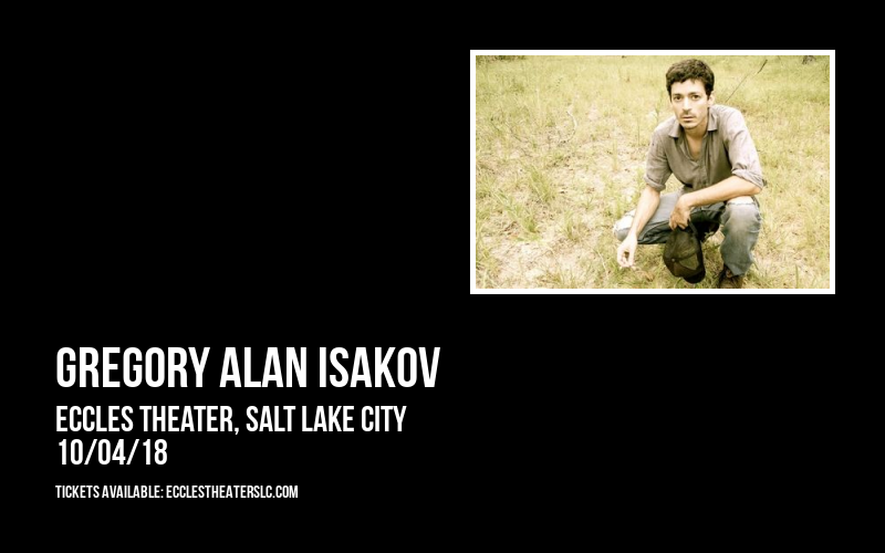 Gregory Alan Isakov at Eccles Theater